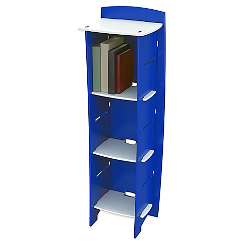 Legare 174 Blue Racer 6 Shelf Tool Free Bookcase In Blue