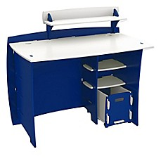 image of Legare® Tool-Free Racer Multi-Pack Desk System in Blue/White