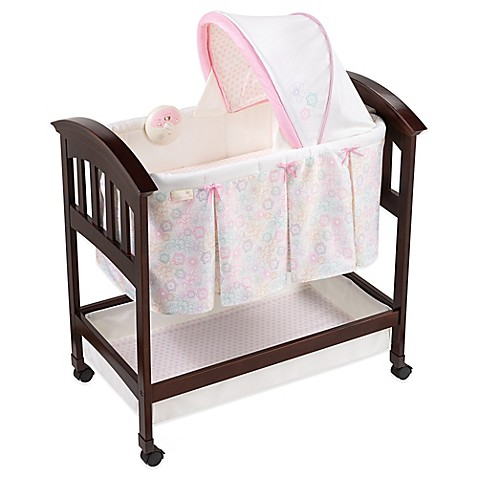 Summer Infant® Classic Comfort Bedtime Blossom Wood Bassinet in Pink/White