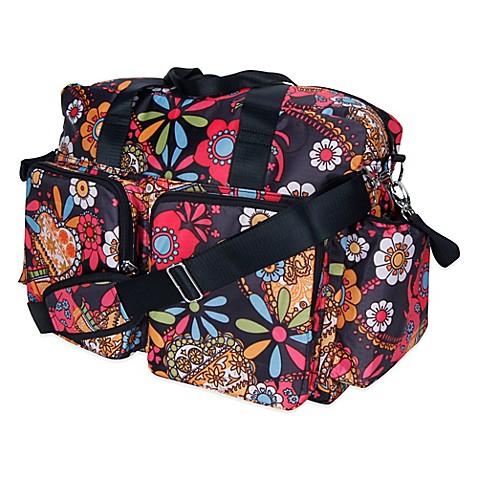 weekender gt trend lab deluxe bohemian floral duffle
