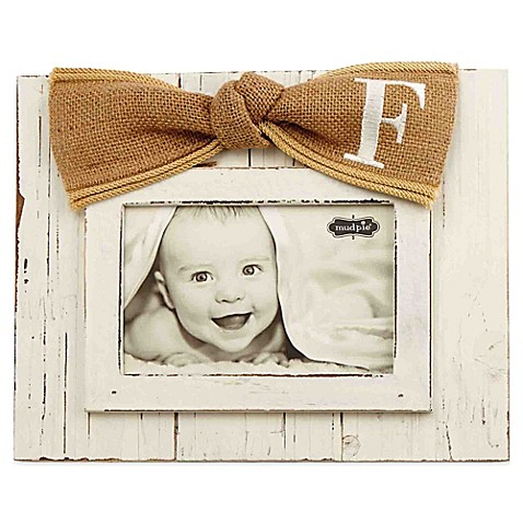 Mud Pie 174 Letter 4 Inch X 6 Inch Bow Picture Frame Bed