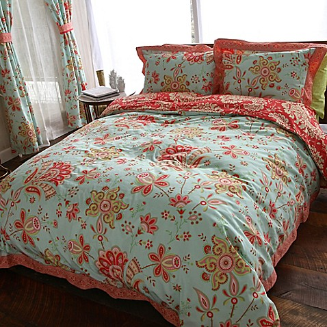 Amy Butler by Welspun Sari Bloom Reversible Comforter Set ...