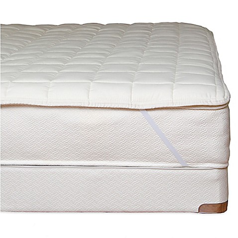 Naturepedic Reg Organic Cotton Quilted Mattress Topper With Straps