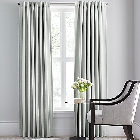 image of barbara barry modern drape rod pocketback tab window curtain panel - Barbara Barry Bedding