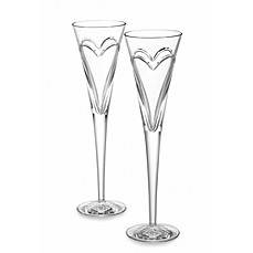 image of Waterford® Wishes Love and Romance Toasting Flutes (Set of 2)