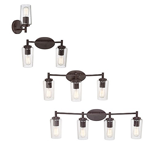 Quoizel Edison Wall Mount Bath Fixture With Clear Seeded Glass Shade Bed Bath Beyond