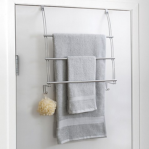image of Totally Bath Over The Door Towel Bar. Bath Towel Racks  Stands  Holders   Warmers   Bed Bath   Beyond
