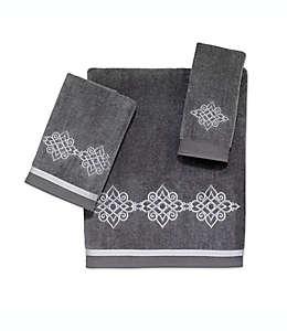 Toalla fingertip de algodón Avanti Riverview® color níquel/plateado