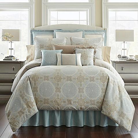 Waterford 174 Linens Jonet Reversible Comforter Set In Cream