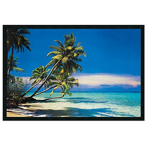 Buy tropical beach framed art print from bed bath beyond for Where to buy framed art