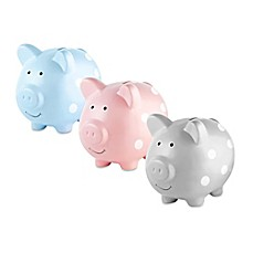 image of Pearhead Medium Ceramic Polka Dot Piggy Bank