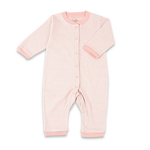 Tadpoles™ by Sleeping Partners Size 0-3M Organic Cotton Footless Snap-Front Romper in Coral
