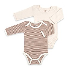 image of Tadpoles™ by Sleeping Partners 2-Pack Organic Cotton Bodysuits in Cocoa