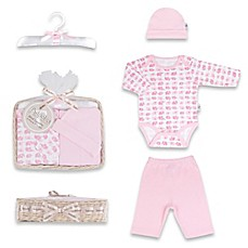 image of Tadpoles™ by Sleeping Partners Mod Zoo Size 0-6M 5-Piece Gift Set in Pink Elephant