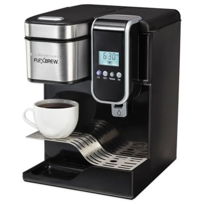 One Cup Coffee Maker Programmable : Hamilton Beach FlexBrew Programmable Single-Serve Coffeemaker with Hot Water Dispenser - Bed ...