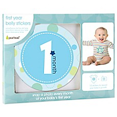 image of Pearhead First Year Baby Belly Stickers in Blue
