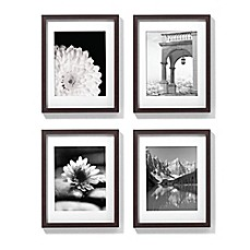image of 11 inch x 14 inch gallery frames in espresso set of