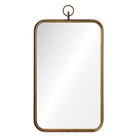 Ren Wil 22 Inch X 36 Inch Victorian Coburg Mirror In Gold