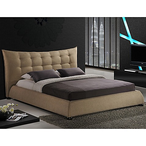 baxton studio bed baxton studio marguerite linen platform bed with headboard 10515