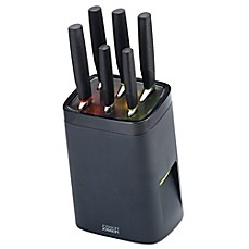 image of Joseph Joseph® 7-Piece Knife LockBlock™ Set in Grey
