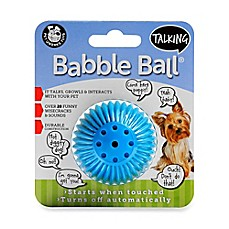 image of Talking Babble Ball Small Pet Toy in Blue
