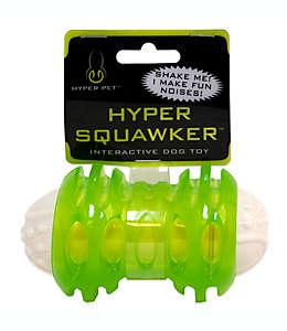 Hueso de juguete con silbato para perro Hyper Pet™, 12.07 cm en verde/blanco
