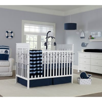 Nautica Kids Mix Match Crib Bedding Collection in Navy Bed