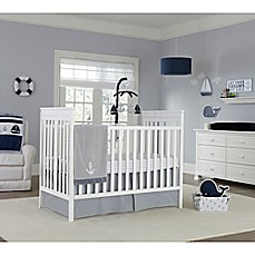 Image Of Nautica Kids Mix Match Crib Bedding In Grey White