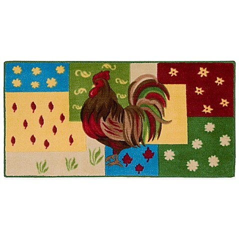 Nourison 3 Foot 4 Inch X 1 Foot 10 Inch Rooster Kitchen Rug Bed Bath Beyond