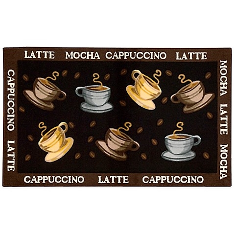 Nourison 27 Inch X 45 Coffee Cup Kitchen Rug In Black