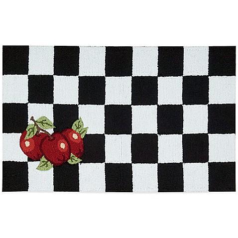 Nourison Apple 33 Inch X 20 Inch Kitchen Rug In Black White Bed Bath Beyond