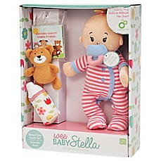 image of Manhattan Toy® Wee Baby Stella Sleepy Time Doll Set with Lavender Scent