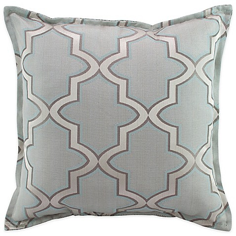 Simply Envogue Decorative Pillow : Austin Horn En Vogue Glamour Square Throw Pillow in Spa Blue - Bed Bath & Beyond