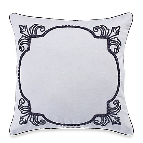 Down Alternative Decorative Pillows : Buy Wamsutta Essex Down Alternative Square Throw Pillow in White from Bed Bath & Beyond