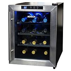 image of newair 12bottle singlezone wine cooler in stainless steel