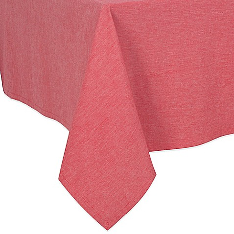 Buy Chambray 70-Inch Square Tablecloth in Red from Bed ...