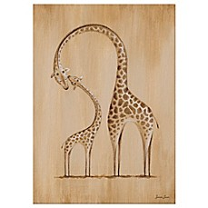 image of Oopsy Daisy Safari Kisses Giraffe Canvas Wall Art