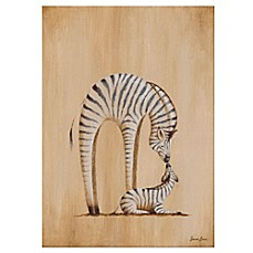 image of Oopsy Daisy Safari Kisses Zebra Canvas Wall Art