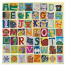 image of Oopsy Daisy Animal Alphabet Canvas Wall Art