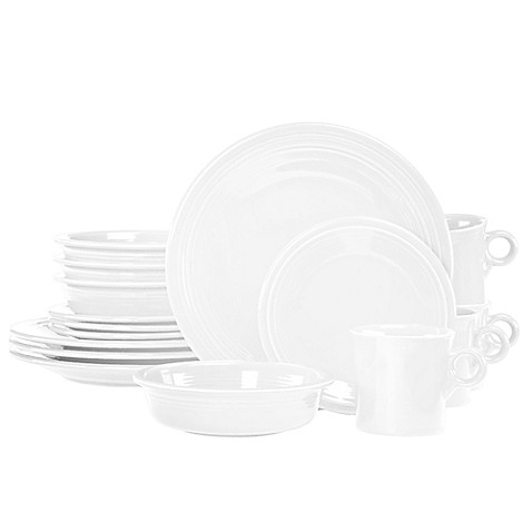 Fiestau0026reg; 16-Piece Dinnerware Set in White  sc 1 st  Bed Bath u0026 Beyond & Fiesta® 16-Piece Dinnerware Set in White - Bed Bath u0026 Beyond