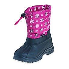 image of Josmo Shoes Rugged Bear with Flower Print Snow Boot in Pink/Black