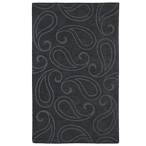 Kaleen Imprints Classic Rug In Navy Yellow Charcoal Bed