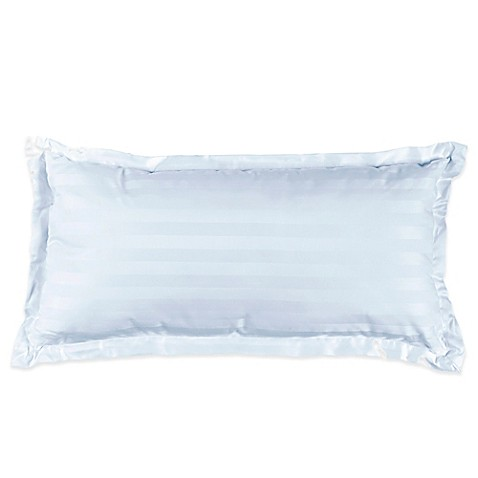 Buy 500-Thread-Count Damask Stripe Oblong Throw Pillow in Light Blue from Bed Bath & Beyond