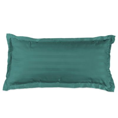 Hunter Green Throw Pillow : Buy 500-Thread-Count Damask Stripe Oblong Throw Pillow in Hunter Green from Bed Bath & Beyond