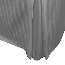 image of 500-Thread-Count Damask Stripe Bed Skirt