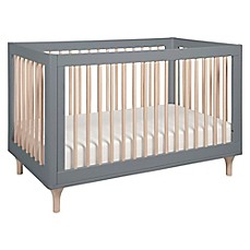 image of Babyletto Lolly 3-in-1 Convertible Crib in Grey/Washed Natural