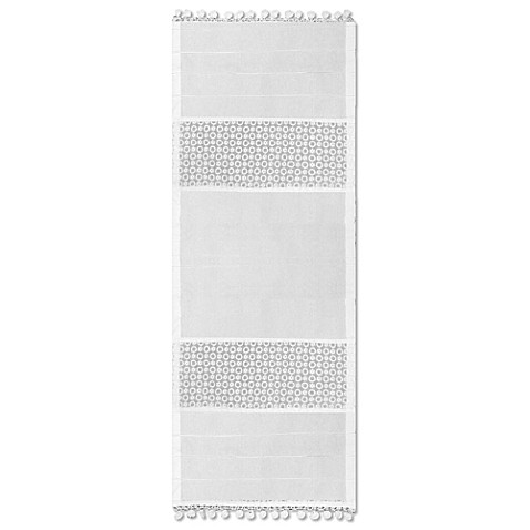 buy heritage lace prima 14 inch x 36 inch table runner in white from bed bath beyond. Black Bedroom Furniture Sets. Home Design Ideas
