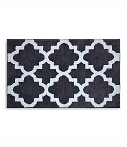 Tapete para baño Adelaide®, de 50.8 x 83.82 cm con patrón decorativo en blanco
