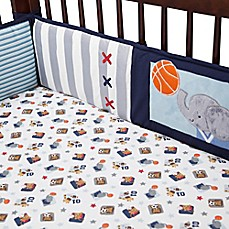 image of Lambs & Ivy® Future All Star 4-Piece Crib Bumper