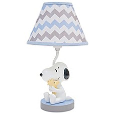 image of Lambs & Ivy® My Little Snoopy™ Lamp Base with Shade